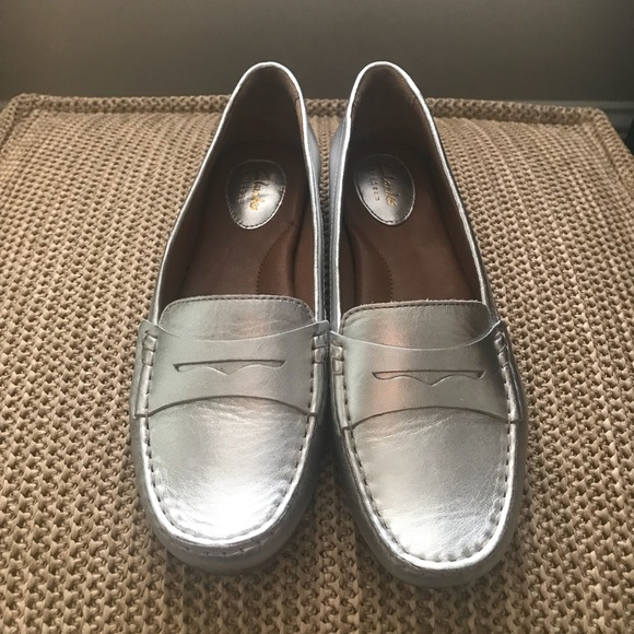 Clarks Shoes | Clark Loafers Silver